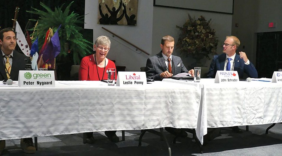 Four candidates at SL forum, no word yet from NDP