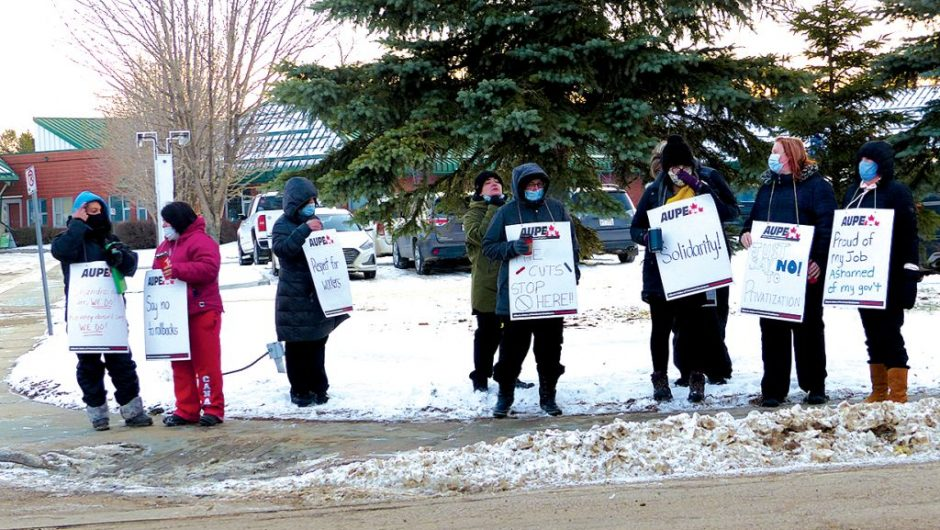 Health care support workers hit the picket lines